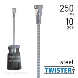 Twister 2mm Steel 250cm - 10pcs
