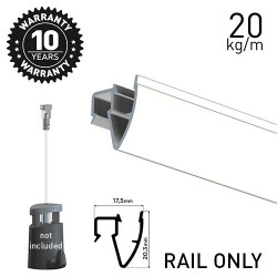 Up Rail White Primer 200cm