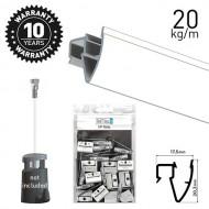 Up Rail White Primer 200cm Kit