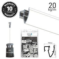 Up Rail White Primer 200cm Kit
