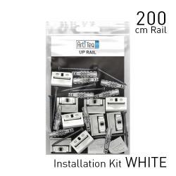 Fastener Kit Up Rail 200cm White